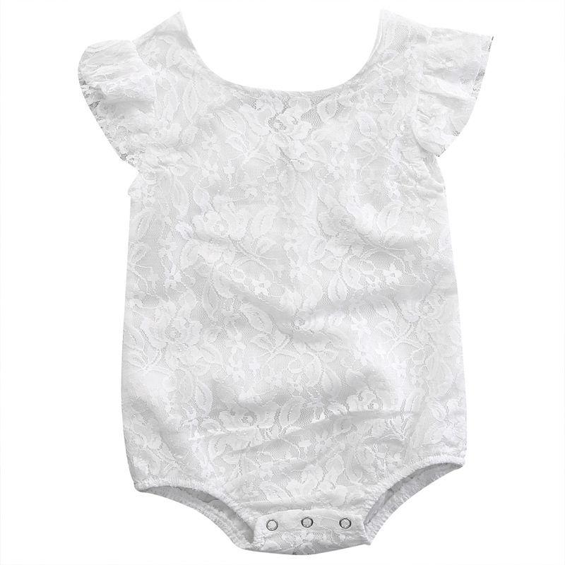 09813988dd5e Baby Girl Sleeveless White Lace Romper Jumpsuit – Playpen Baby